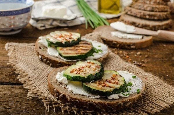 Grilled Summer Squash and Brie Sandwiches